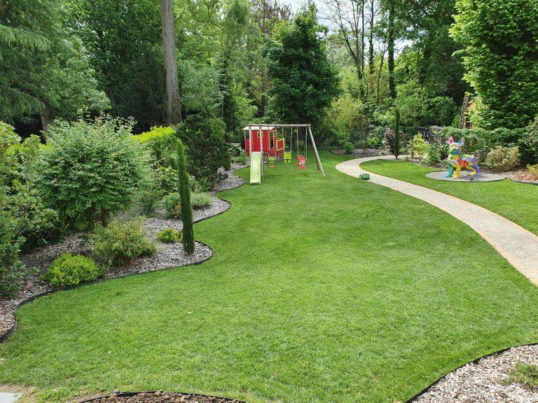 Engazonnement jardin