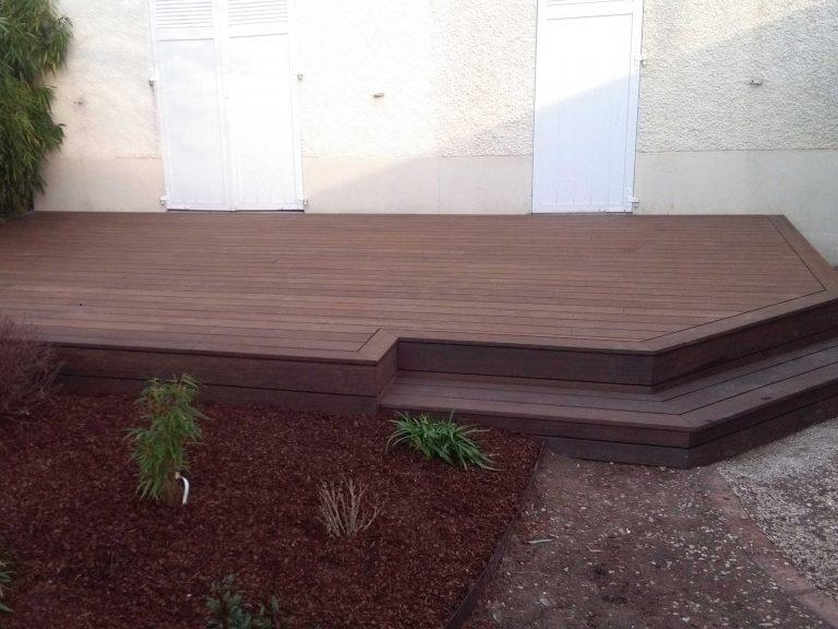 Installation Terrasse bambou